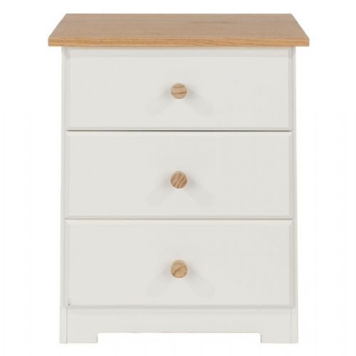 Colorado 3 Drawer Bedside